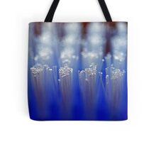 Blue Brush Macro Tote Bag