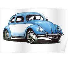 1954 Volkswagon Beetle Poster