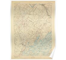 Maine USGS Historical Map Freeport 306570 1892 62500 Poster