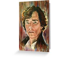 Sherlock Benedict Cumberbatch Greeting Card