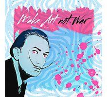 Make Art Not War - Salvador Dali Portrait Photographic Print