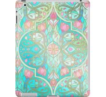Floral Moroccan in Spring Pastels - Aqua, Pink, Mint & Peach iPad Case/Skin