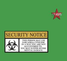 I.T HERO - Security Notice Kids Clothes