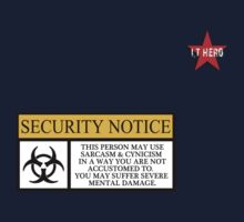 I.T HERO - Security Notice One Piece - Short Sleeve