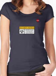 I.T HERO - Security Notice Women's Fitted Scoop T-Shirt