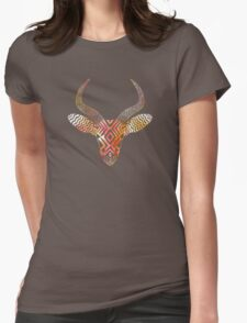 Watercolor Antelope Womens Fitted T-Shirt