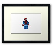LEGO Spiderman Framed Print