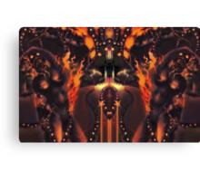 Android Initialise [Digital Figure Illustration] Fiery Version Canvas Print