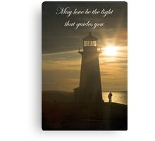 May Love Be The Light.... Canvas Print