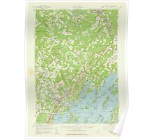 Maine USGS Historical Map Freeport 306572 1957 62500 Poster