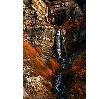 Bridal Veil Falls, Provo Canyon, Autumn Photographic Print