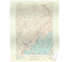 Maine USGS Historical Map Freeport 306574 1957 62500 Poster