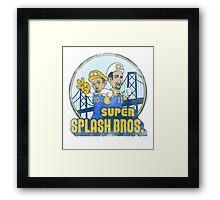 Super Splash Bros  Framed Print