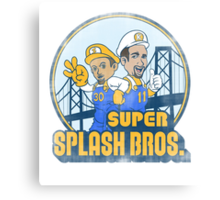 Super Splash Bros  Canvas Print