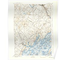 Maine USGS Historical Map Freeport 460410 1892 62500 Poster