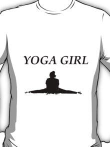 'YOGA GIRL' design T-Shirt