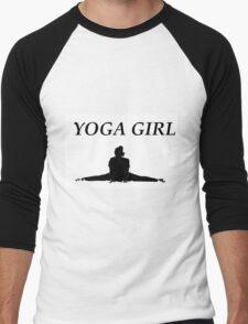 'YOGA GIRL' design Men's Baseball ¾ T-Shirt