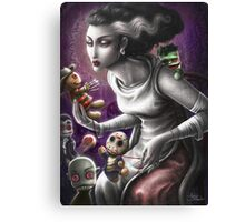 The Bride dollmaking Canvas Print