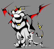 Black Voltron Lion Cubist by PartyMoth59
