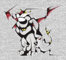 Black Voltron Lion Cubist T-Shirt