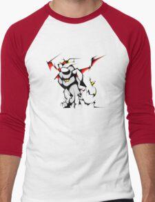 Black Voltron Lion Cubist Men's Baseball ¾ T-Shirt