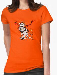 Black Voltron Lion Cubist Womens Fitted T-Shirt