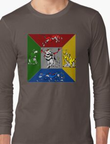 From Days of Long Ago.....Cubist Voltron Long Sleeve T-Shirt