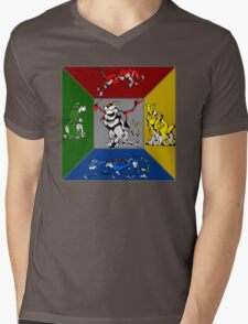 From Days of Long Ago.....Cubist Voltron Mens V-Neck T-Shirt