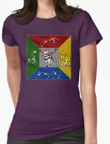From Days of Long Ago.....Cubist Voltron Womens Fitted T-Shirt