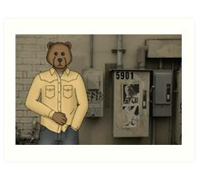 A Younger Macungie Bear Art Print