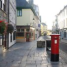 Red Letterbox Plymouth Barbican by DonDavisUK