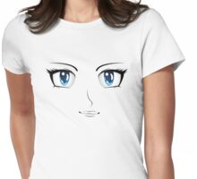 Cartoon female face 4 Womens Fitted T-Shirt