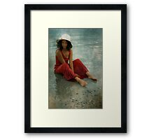 beauty in red Framed Print