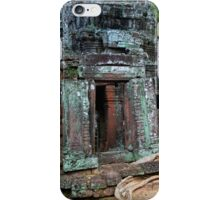 Ta Prohm Temple Ruins in Cambodia iPhone Case/Skin