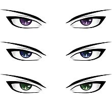Cartoon male eyes by AnnArtshock