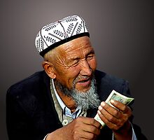 MARKET TRANSACTION - KASHGAR by Michael Sheridan