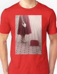 waiting for the train Unisex T-Shirt