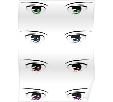 Cartoon male eyes 2 Poster