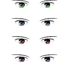 Cartoon male eyes 2 Photographic Print