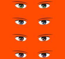Cartoon male eyes 2 Kids Clothes
