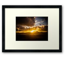 Skye Sunset Framed Print