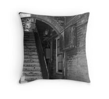 Rustic Staircase Throw Pillow