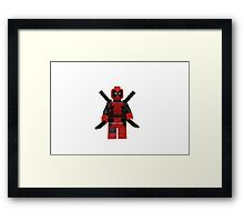 LEGO Deadpool Framed Print
