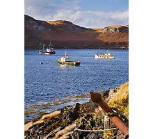Skye Fishing Boats Photographic Print