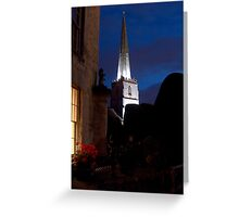 """""""Evening Illuminations of the Spire"""" Greeting Card"""