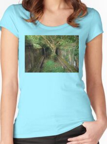 Jungle Temple Ruins in Cambodia Women's Fitted Scoop T-Shirt