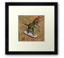 Skateboarding T-Rex Framed Print
