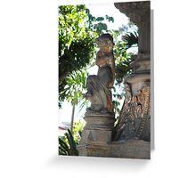 Child Statue - Costa Rica Greeting Card