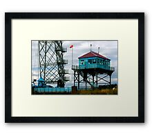 newport transporter bridge engine house Framed Print