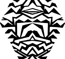 diamond - papercut pattern (black) by Sid's  Papercuts